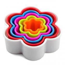 Набор резаков для печенья Цветочки 6 шт (2,8-9,3см) фото
