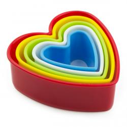 Набор резаков для печенья Сердца 5 шт (3,5-10см) фото