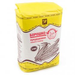 Мука кукурузная Сто Пудовъ, 1 кг фото