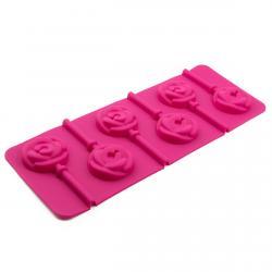 Форма для конфет на палочке Розочки 6 шт (фото 1 из 2)