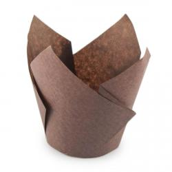 Форма для маффинов Тюльпан коричневый 50/70 1 шт фото