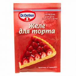 Желе-покрытие для торта красное Др.Оеткер, 8г фото