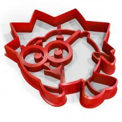 Смешарик Ежик вырубка для пряников 9*8 см (3D) фото
