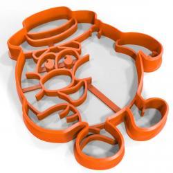 Смешарик Копатыч вырубка для пряников 9*8 см (3D) фото