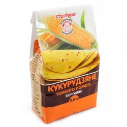 Мука кукурузная Сто Пудов, 500 гр фото