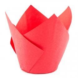 Форма для маффинов Тюльпан красный 50/70 1 шт фото