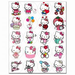 Капкейки-5 см Hello Kitty 1 вафельна картинка фото