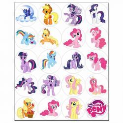 Капкейки-5 см My little Pony 1 вафельная картинка фото