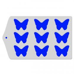 Трафарет для глазури и шоколада Бабочки шаблон фото