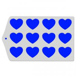 Трафарет для глазури и шоколада Сердце 6 см шаблон фото