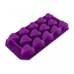 Форма д/льда и конфет силикон Сердечки гладкие 14 шт (фото 1 из 3)
