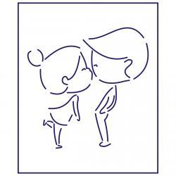 Трафарет Поцелуй влюбленных 10 см HMA-М404 фото