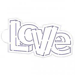Трафарет 3Д-надпись LOVE 10 см HMA-М379 фото