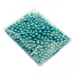 Бусинки сахарные голубые 3 мм фото