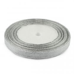 Лента упаковочная Парча Серебро 25 мм 23 м фото