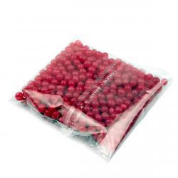Бусинки сахарные Жемчуг ярко-красные 4 мм фото