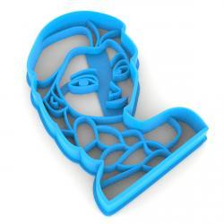 Холодное сердце Эльза вырубка для пряников 8*5,6 см (3D) фото