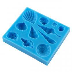 Молд для мастики Ракушки 10 шт фото