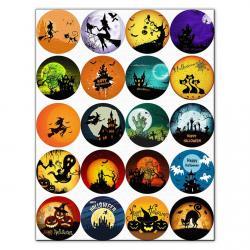 Капкейки-5 см Хеллоуин вафельна картинка фото