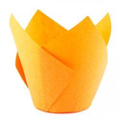 Форма для маффинов Тюльпан оранжевый 50/70 1 шт фото