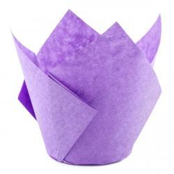 Форма для маффинов Тюльпан фиолетовый 50/70 1 шт фото