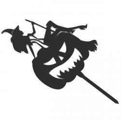 Хеллоуин Ведьма топпер для торта 20*11,3 см (3D) фото