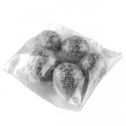 Декор Фундук в черном шоколаде с Серебряным шиммером фото