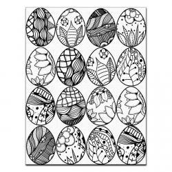 Пасхальные яйца расписные для пряников 6*5 вафельная картинка фото