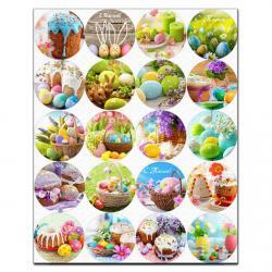 Пасхальный декор Фото 5 см вафельная картинка фото