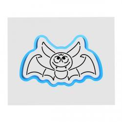 Летучая мышь вырубка с трафаретом 6*10 см (TR-1) фото