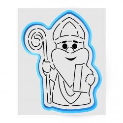 Святой Николай вырубка с трафаретом 12.5*9.5 см (TR-1) фото