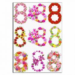 8 марта цветы вафельная картинка фото
