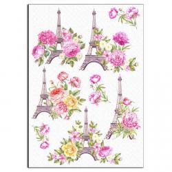 Эйфелева башня вафельная картинка фото