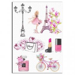 Париж Шанель вафельная картинка фото