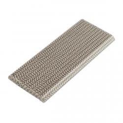 Трубочка бумажная Серый зиг-заг 197 мм (25 шт) фото