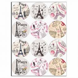 Париж 6,5 см вафельная картинка фото