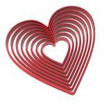 Набор вырубок для пряников Сердца от 3 до 10 см (3D)