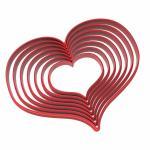 Набор вырубок для пряников Сердца широкие от 4 до 10 см (3D)