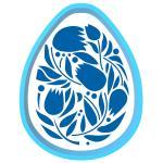 Яйцо Пасхальное 4 вырубка с трафаретом 8*6 см (TR-2)