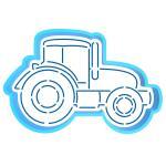 Трактор вырубка с трафаретом 8*12 см (TR-2)