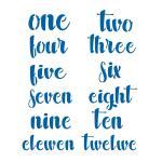 Цифры прописные 4-6 см трафарет надпись для пряников (TR-2)
