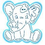 Слоненок вырубка с трафаретом 11*10,2 см (TR-2)