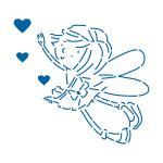 Фея с сердечками трафарет для пряников 11*12 см (TR-2)