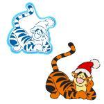 Тигра в шапке вырубка с трафаретом 12*11,5 см (TR-2)