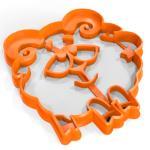 Смешарик Бараш вырубка для пряников 9*8 см (3D)