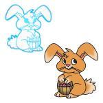Пасхальный Кролик вырубка для пряников 10*10 см (3D)