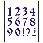 Трафарет Цифры 3 см (TR-1)