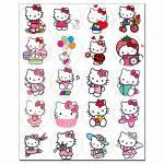 Капкейки-5 см Hello Kitty 1 вафельна картинка