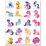 Капкейки-5 см My little Pony 1 вафельная картинка