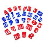 Вырубка для мастики Алфавит украинско-русский 4 см (3D)